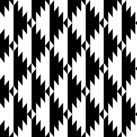 Black & White Tribal fabric by kimsa on Spoonflower - custom fabric