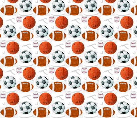 Expressionist Play Ball fabric by dsa_designs on Spoonflower - custom fabric