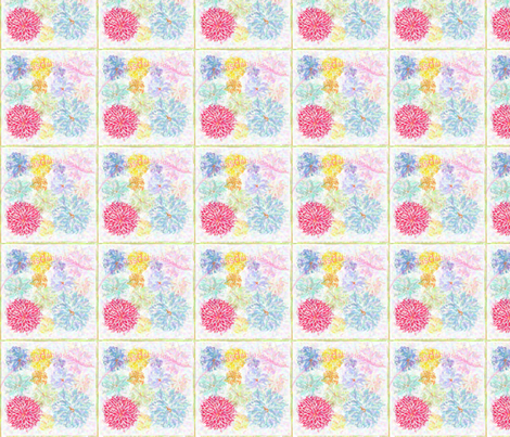 Boxed Dahlias fabric by dsa_designs on Spoonflower - custom fabric