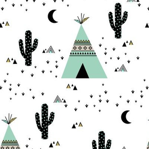Teepee - white background