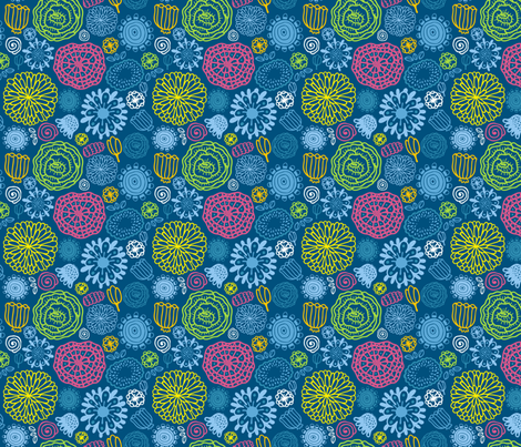 flora pattern fabric by kostolom3000 on Spoonflower - custom fabric