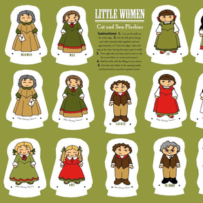 Little Women cut and sew dolls