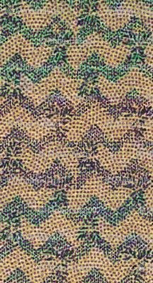 chevron knit - purple, green, peach, blue