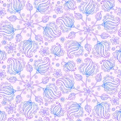 Violet doodles pattern
