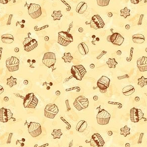 Chocolate sweets hand-drawn pattern