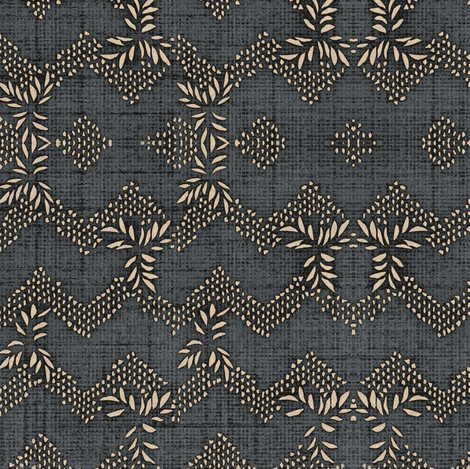 chevron garland - slate fabric by materialsgirl on Spoonflower - custom fabric
