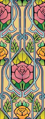 Art Nouveau roses pattern