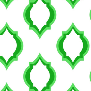 moroccan green tile