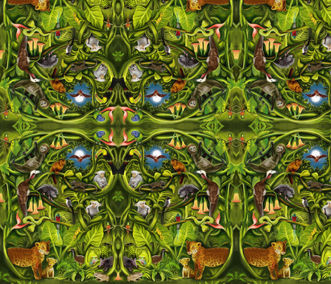 Rainforest Mirror Version fabric by vinpauld on Spoonflower - custom fabric