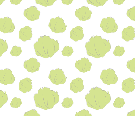 Farmers Market {Lettuce} fabric by printablegirl on Spoonflower - custom fabric