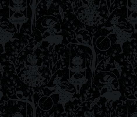 country girls blue fabric by gaiamarfurt on Spoonflower - custom fabric