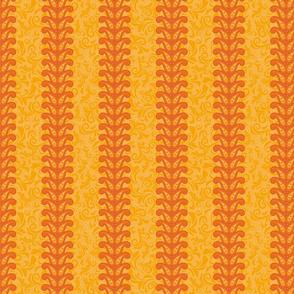 Paisley striped pattern in orange