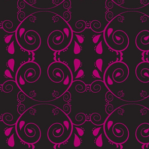 Abstract67-black/raspberry