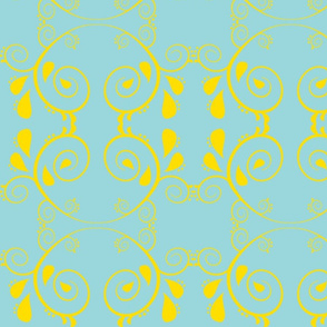 Abstract67-yellow/light blue