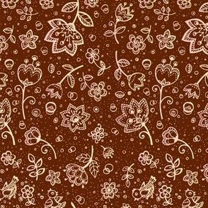 Coffee flowers pattern
