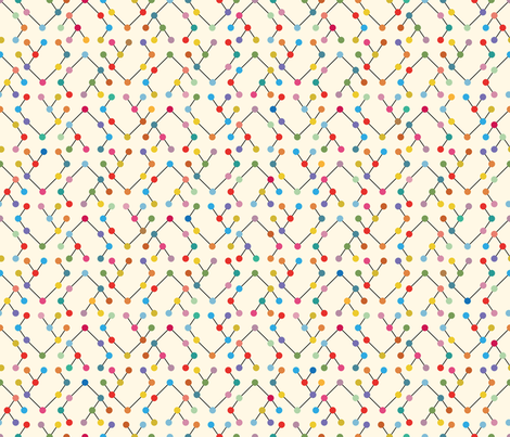 chevron-binary graphism fabric by cassiopee on Spoonflower - custom fabric