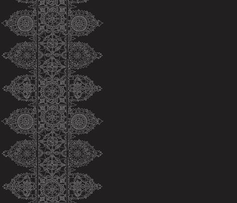 Dark ice lace - trim fabric by lazydee on Spoonflower - custom fabric