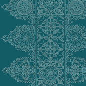 Teal Lace - trim