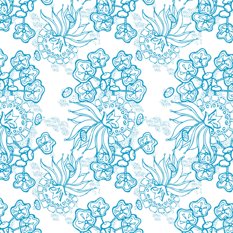 On Hold - Blue fabric by reannalilydesigns on Spoonflower - custom fabric