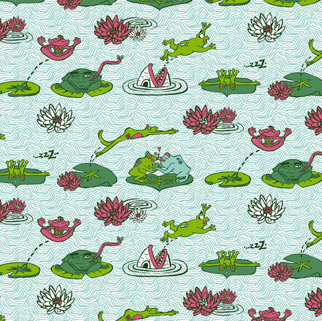 frog_forweb fabric by babbles_interiors on Spoonflower - custom fabric