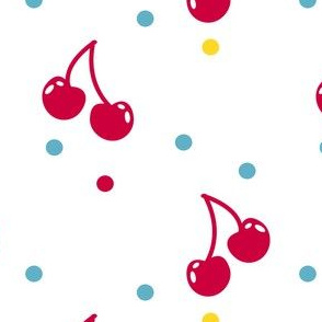 Cherry Cherry Dot! - Sweet Birds of Summer - Summer Party - © PinkSodaPop 4ComputerHeaven.com
