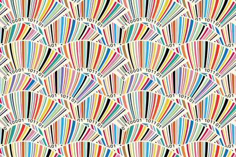 Geek barcodes fabric by cassiopee on Spoonflower - custom fabric