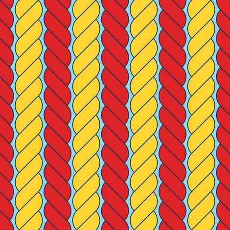 rope stripe fabric by sef on Spoonflower - custom fabric