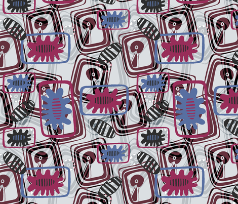Splash fabric by slumbermonkey on Spoonflower - custom fabric