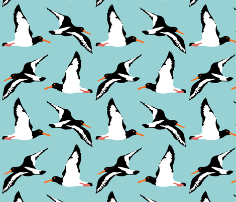 Oyster Catchers fabric by louisenorman on Spoonflower - custom fabric