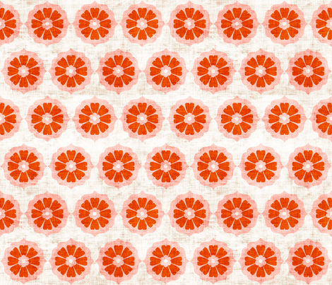 orange_cushionflower fabric by holli_zollinger on Spoonflower - custom fabric