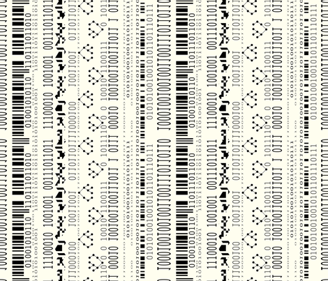 Geek codes fabric by cassiopee on Spoonflower - custom fabric