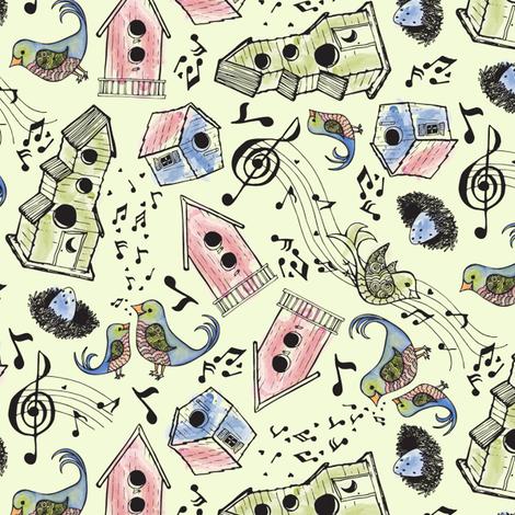 SongBirdScatter fabric by kari_d on Spoonflower - custom fabric