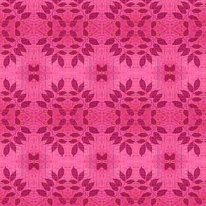 leafy flower dusty rose misty pink fabric