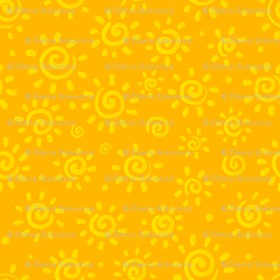 Yellow sunny pattern