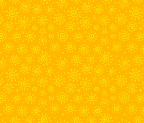 Yellow sunny pattern fabric by art_of_sun on Spoonflower - custom fabric