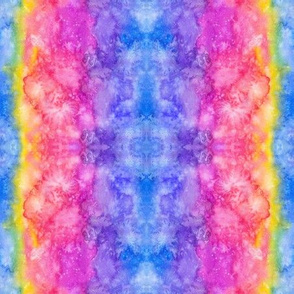 Watercolor rainbow pattern
