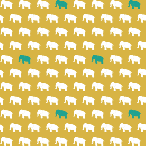 elephantsongold fabric by mrshervi on Spoonflower - custom fabric