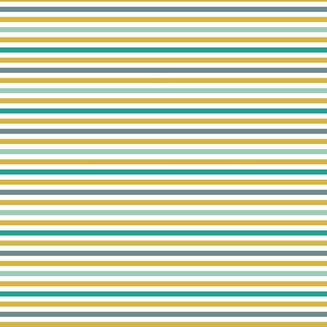 emerald gold stripe fabric by mrshervi on Spoonflower - custom fabric