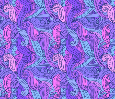 Violet curls seamless pattern fabric by art_of_sun on Spoonflower - custom fabric