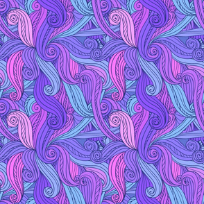 Violet curls seamless pattern