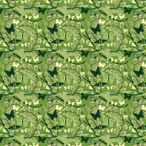 Butterfly Dark Green