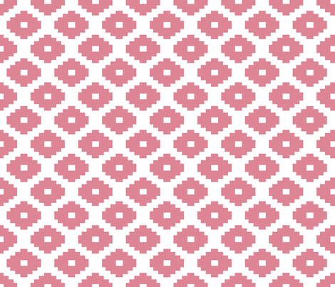 Aztec Coral fabric by honey&fitz on Spoonflower - custom fabric