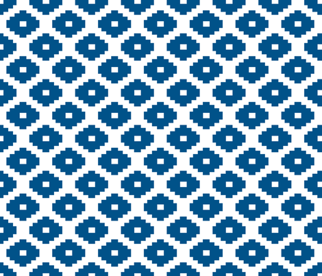 Aztec Navy fabric by honey&fitz on Spoonflower - custom fabric
