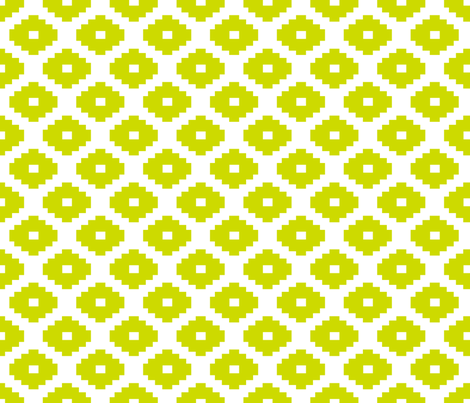 Aztec Lime fabric by honey&fitz on Spoonflower - custom fabric
