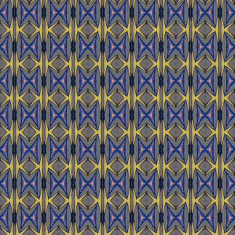 Geometric 0929 k2 r r yellow blue fabric by wyspyr on Spoonflower - custom fabric