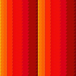 sunset orange and yellow stripes