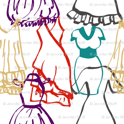 Dress doodles