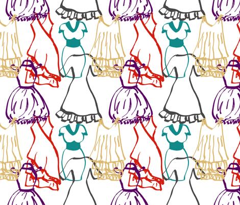Dress doodles fabric by halfaringcircus on Spoonflower - custom fabric