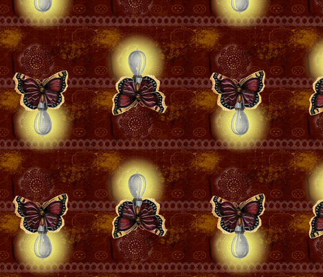 Mad Scientist's Lightning Bugs fabric by halfaringcircus on Spoonflower - custom fabric