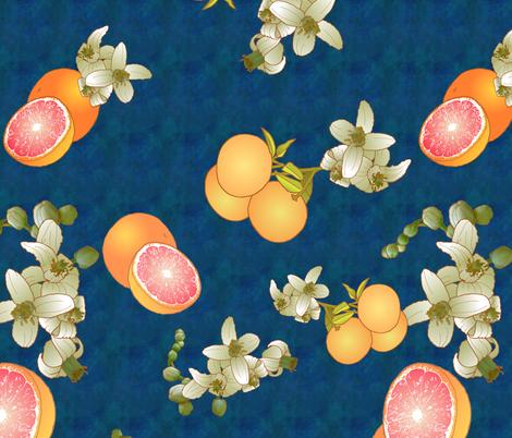 Grapefruit Botanical fabric by halfaringcircus on Spoonflower - custom fabric